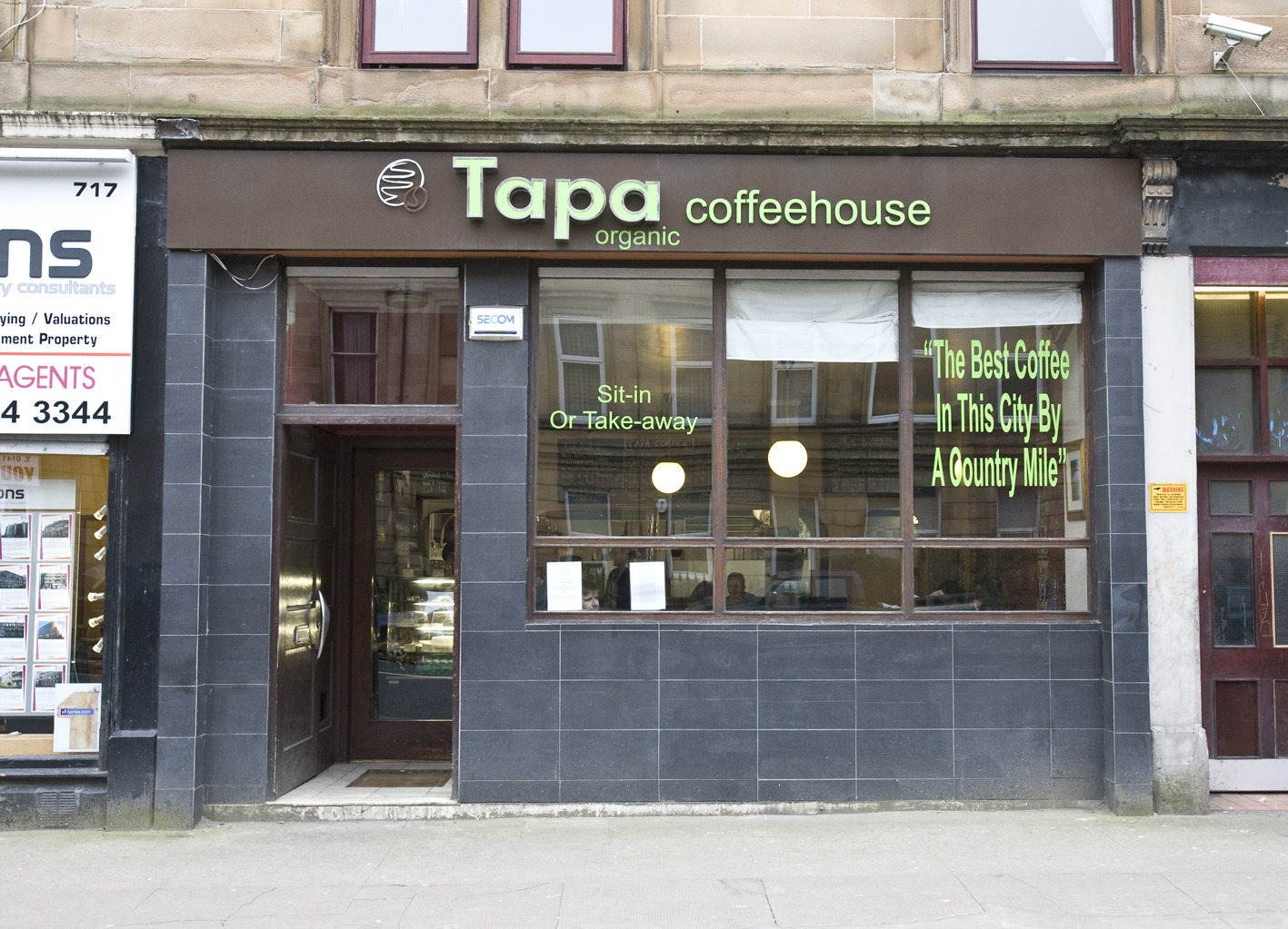 Tapa Coffee Shop – Glasgow, Scotland