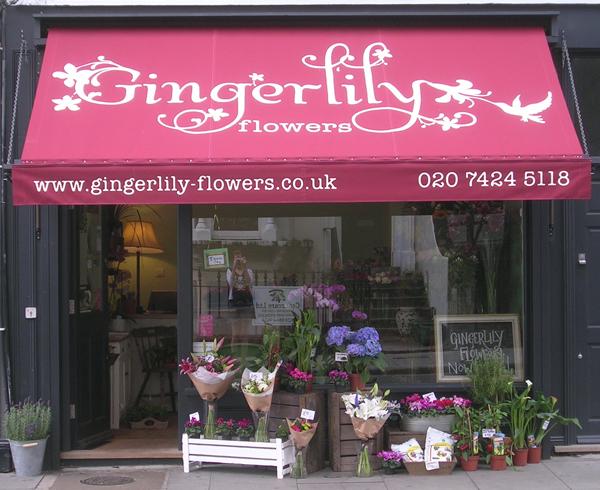 Gingerlily Flowers, Islington, London