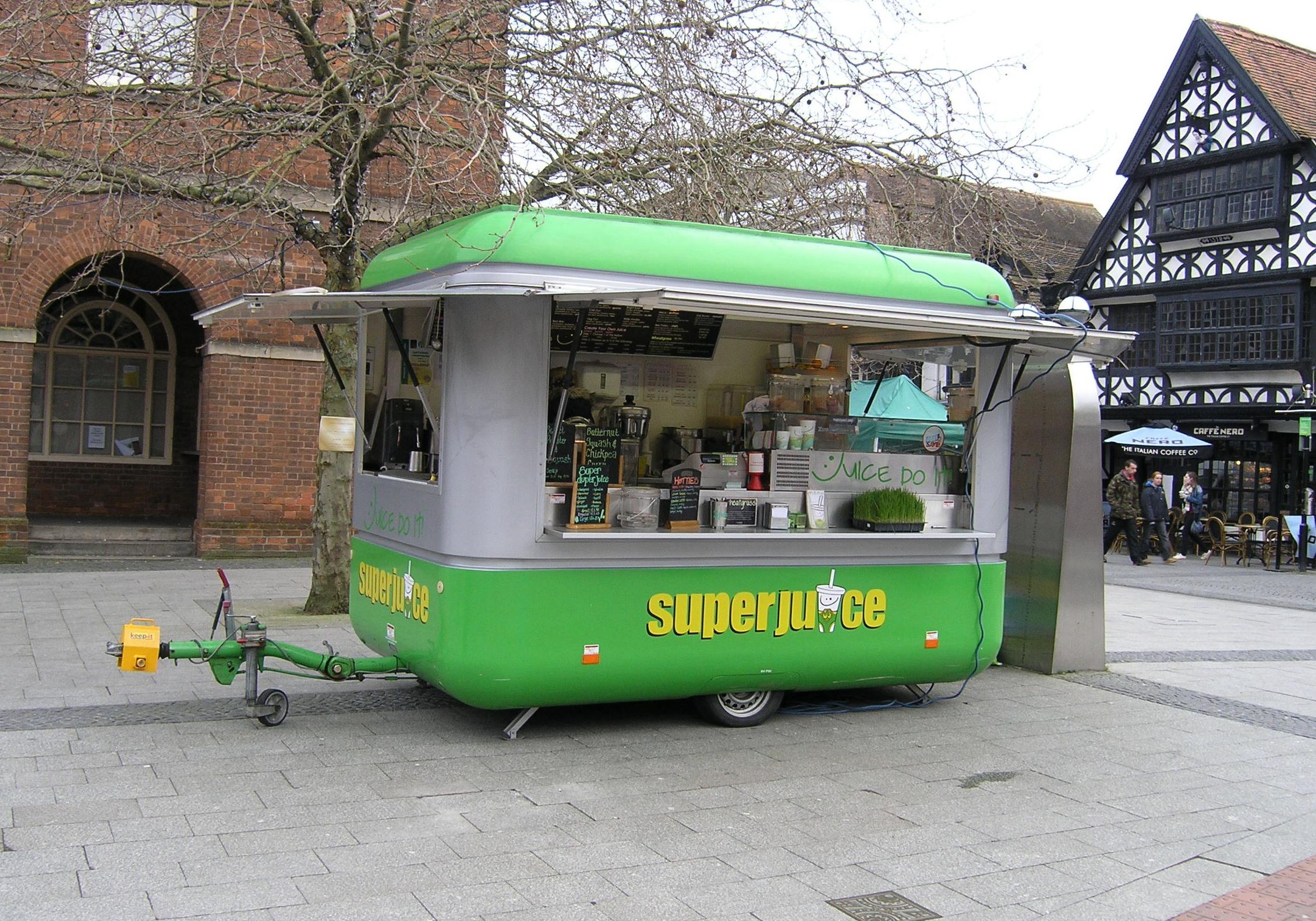 Superjuice mobile juice & smoothie Franchise, Taunton, Somerset