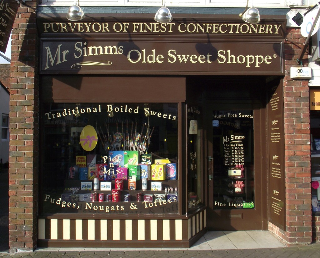 Mr Simms Olde Sweet Shoppe, Christchurch, Dorset