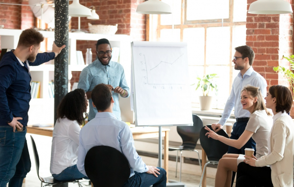 Image of a company meeting to represent that structuring your business now is vital for your future selling potential